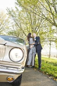 bruiloft trouwauto